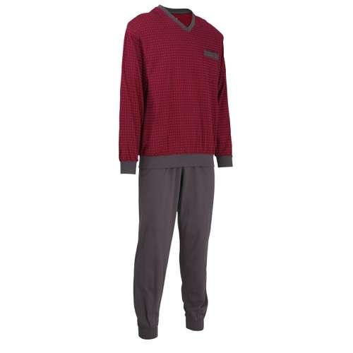 Bild von GÖTZBURG Herren Pyjama rot bedruckt 1er Pack 330° Ansicht
