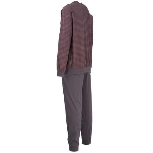 Bild von GÖTZBURG Herren Pyjama grau bedruckt 1er Pack 120° Ansicht