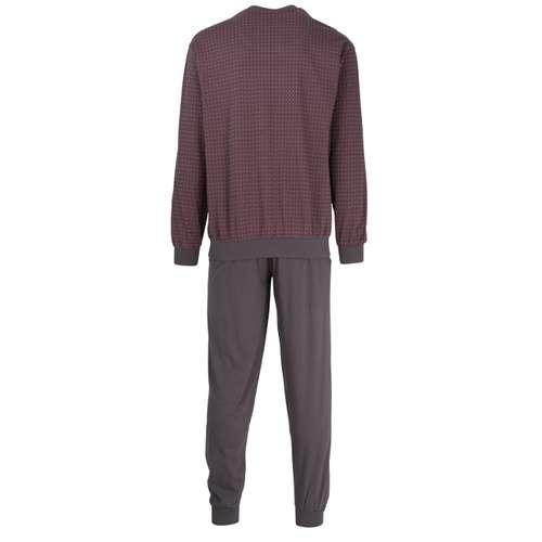 Bild von GÖTZBURG Herren Pyjama grau bedruckt 1er Pack 180° Ansicht