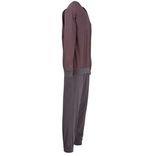 Bild von GÖTZBURG Herren Pyjama grau bedruckt 1er Pack 290° Ansicht