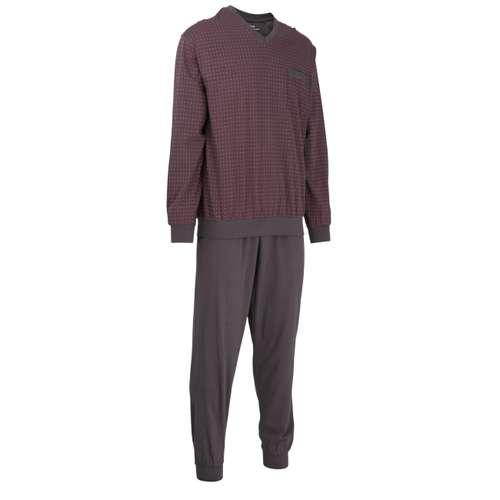 Bild von GÖTZBURG Herren Pyjama grau bedruckt 1er Pack 330° Ansicht
