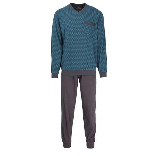 Bild von GÖTZBURG Herren Pyjama grün bedruckt 1er Pack 0° Ansicht
