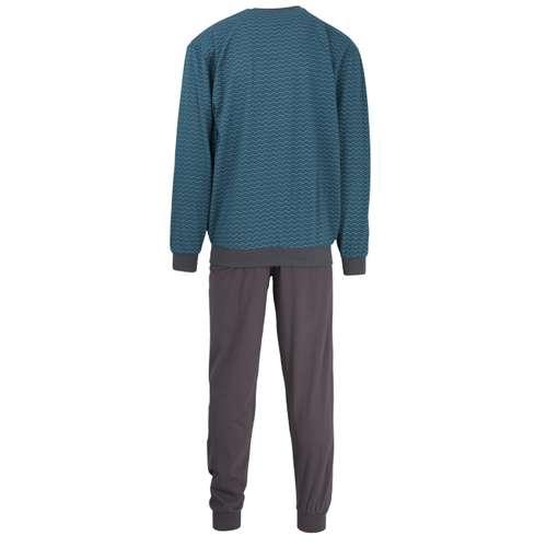 Bild von GÖTZBURG Herren Pyjama grün bedruckt 1er Pack 180° Ansicht