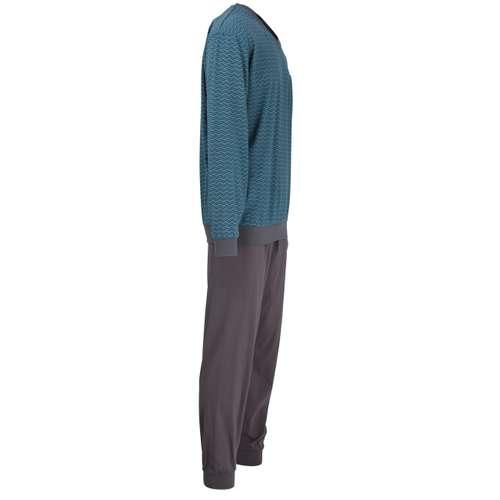 Bild von GÖTZBURG Herren Pyjama grün bedruckt 1er Pack 290° Ansicht