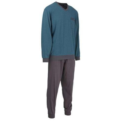 Bild von GÖTZBURG Herren Pyjama grün bedruckt 1er Pack 330° Ansicht