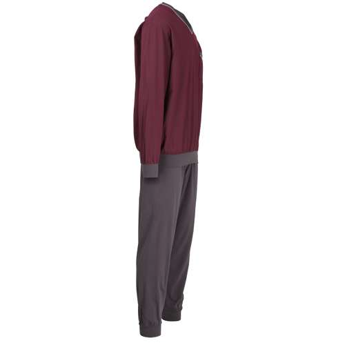 Bild von GÖTZBURG Herren Pyjama rot bedruckt 1er Pack 290° Ansicht
