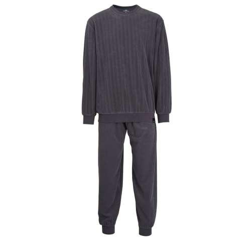 GÖTZBURG Herren Pyjama grau Struktur 1er Pack im 0° Winkel