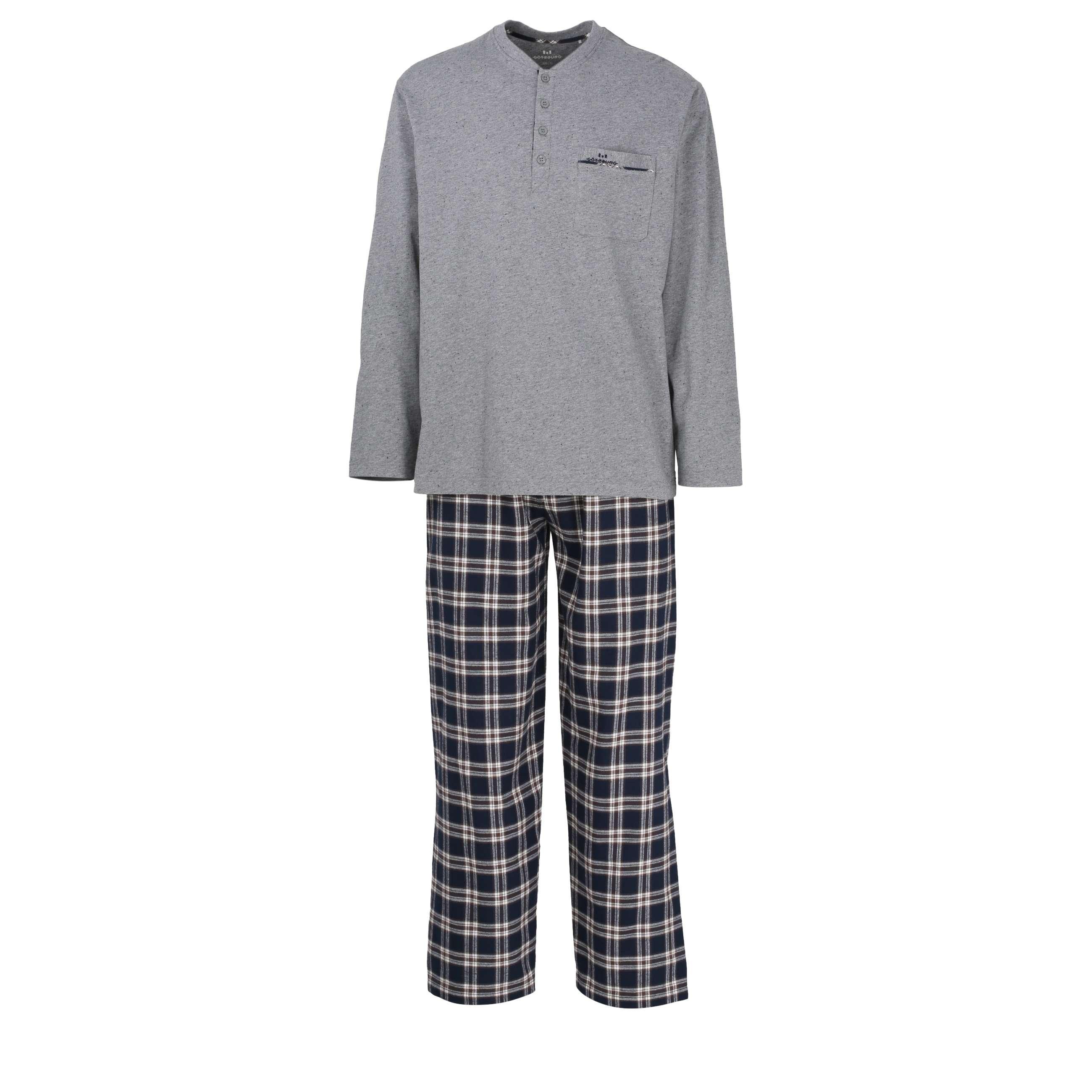 g tzburg herren pyjama schlafanzug kariert. Black Bedroom Furniture Sets. Home Design Ideas