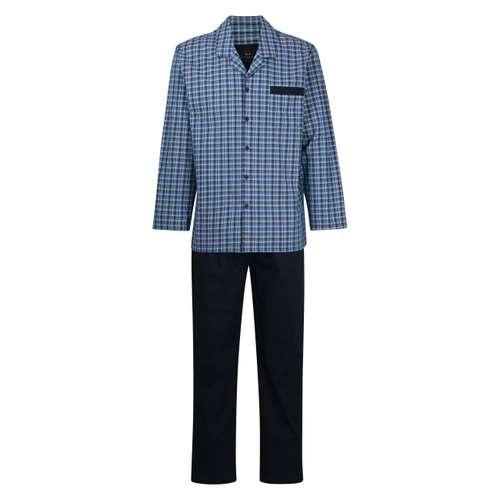 GÖTZBURG Herren Pyjama rot kariert 1er Pack im 0° Winkel