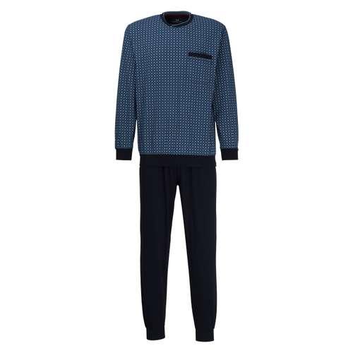 GÖTZBURG Herren Pyjama grün bedruckt 1er Pack im 0° Winkel