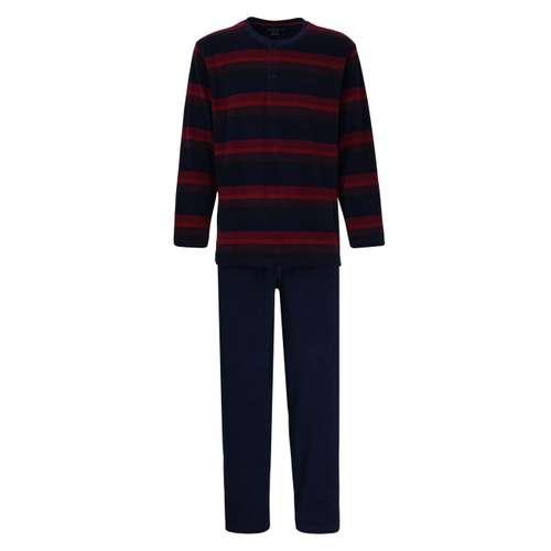 GÖTZBURG Herren Pyjama rot quergestreift 1er Pack im 0° Winkel