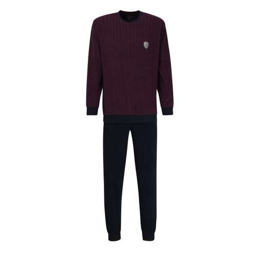GÖTZBURG Herren Pyjama rot Nadelstreifen 1er Pack im 0° Winkel