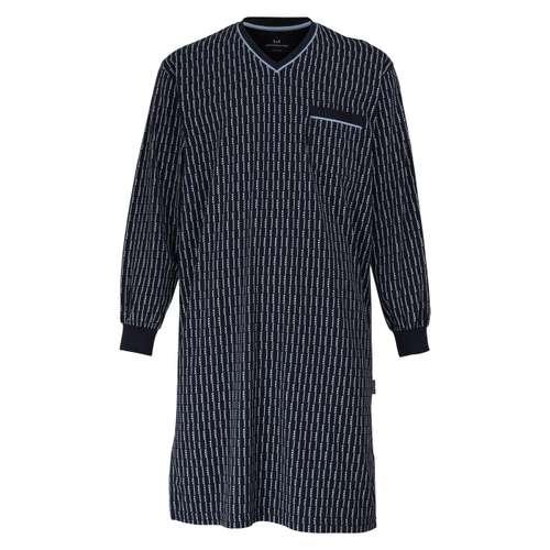 GÖTZBURG Herren Nachthemd blau bedruckt 1er Pack im 0° Winkel