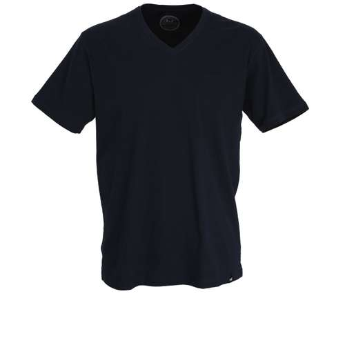 GÖTZBURG Herren T-Shirt blau uni 1er Pack im 0° Winkel
