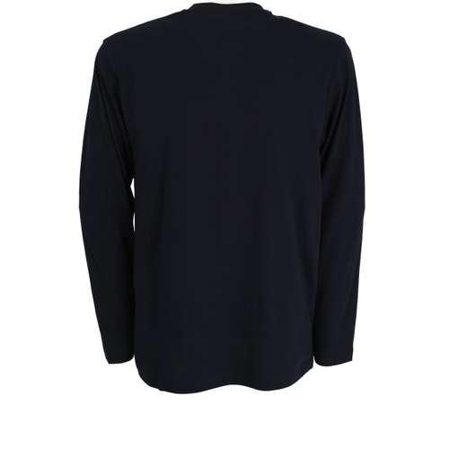 Bild von GÖTZBURG Herren Shirt blau uni 1er Pack 180° Ansicht