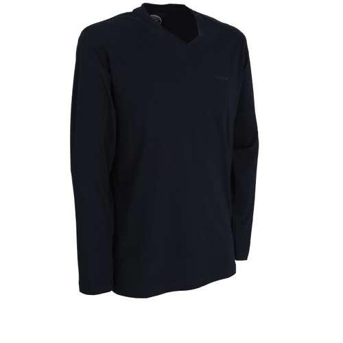Bild von GÖTZBURG Herren Shirt blau uni 1er Pack 330° Ansicht