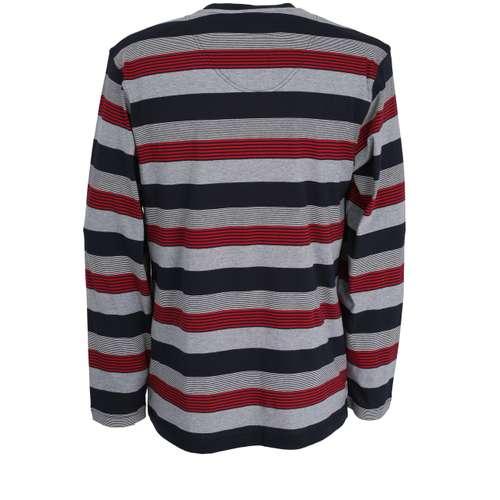 Bild von GÖTZBURG Herren Shirt rot quergestreift 1er Pack 180° Ansicht