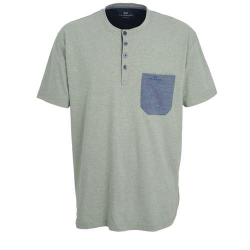 GÖTZBURG Herren Shirt grün melange 1er Pack im 0° Winkel