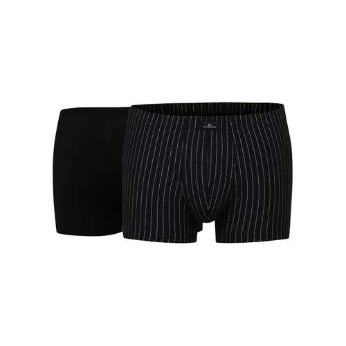 GÖTZBURG Herren Pants schwarz längsgestreift 2er Pack im 0° Winkel