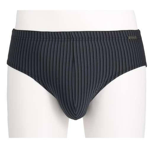 GÖTZBURG Herren Sport-Slip schwarz längsgestreift 1er Pack im 0° Winkel