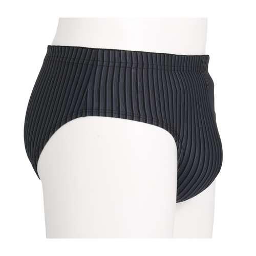 Bild von GÖTZBURG Herren Sport-Slip schwarz längsgestreift 1er Pack 290° Ansicht