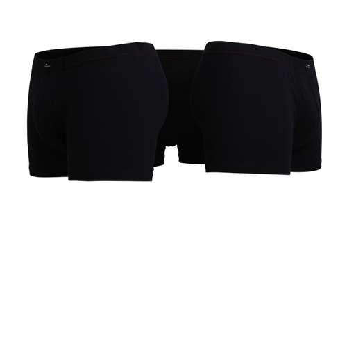 Bild von GÖTZBURG Herren Pants schwarz uni 3er Pack 180° Ansicht