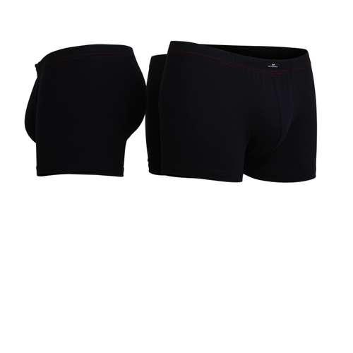 Bild von GÖTZBURG Herren Pants schwarz uni 3er Pack 330° Ansicht