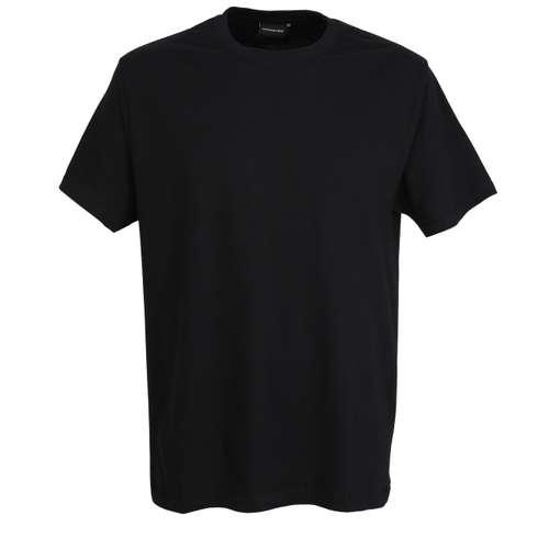 GÖTZBURG Herren T-Shirt schwarz uni 2er Pack im 0° Winkel