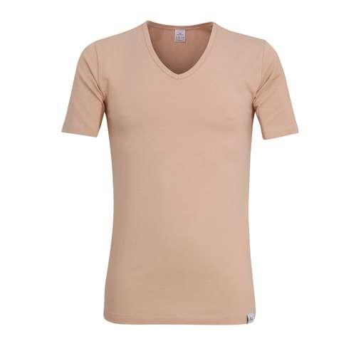 GÖTZBURG Herren T-Shirt braun uni 1er Pack im 0° Winkel