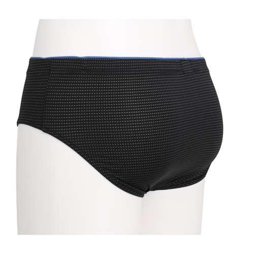 Bild von GÖTZBURG Herren Sport-Slip schwarz minimal 1er Pack 120° Ansicht