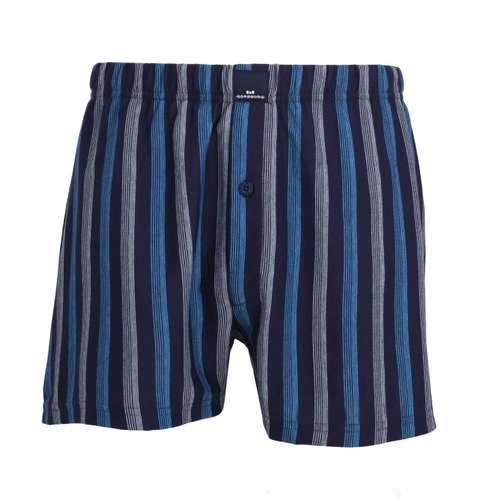 GÖTZBURG Herren Boxershort blau längsgestreift 1er Pack im 0° Winkel