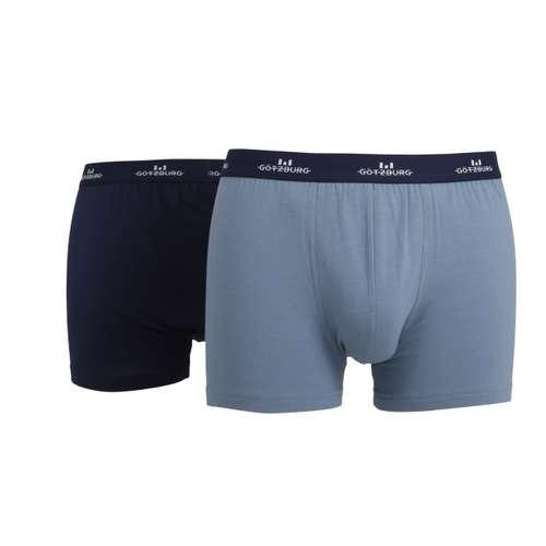 GÖTZBURG Herren Pants blau uni 2er Pack im 0° Winkel