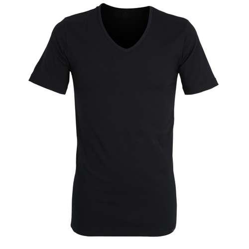 GÖTZBURG Herren T-Shirt schwarz uni 1er Pack im 0° Winkel