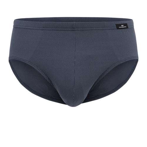 GÖTZBURG Herren Sport-Slip blau längsgestreift 1er Pack im 0° Winkel