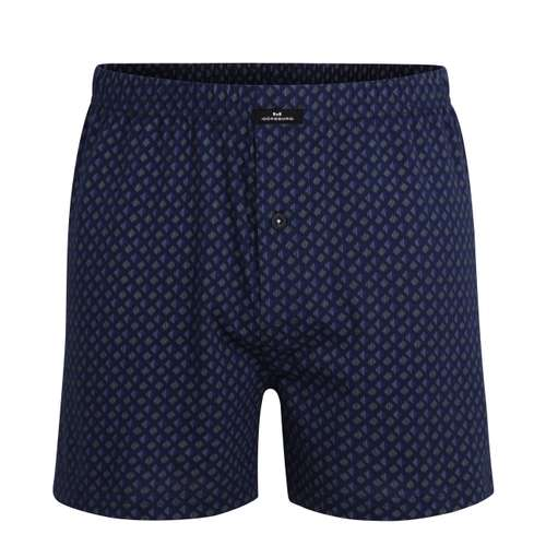 GÖTZBURG Herren Boxershort blau bedruckt 1er Pack im 0° Winkel