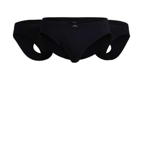 Bild von GÖTZBURG Herren Sport-Slip schwarz uni 3er Pack 120° Ansicht